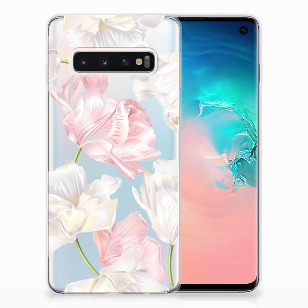 Samsung Galaxy S10 TPU Hoesje Design Lovely Flowers