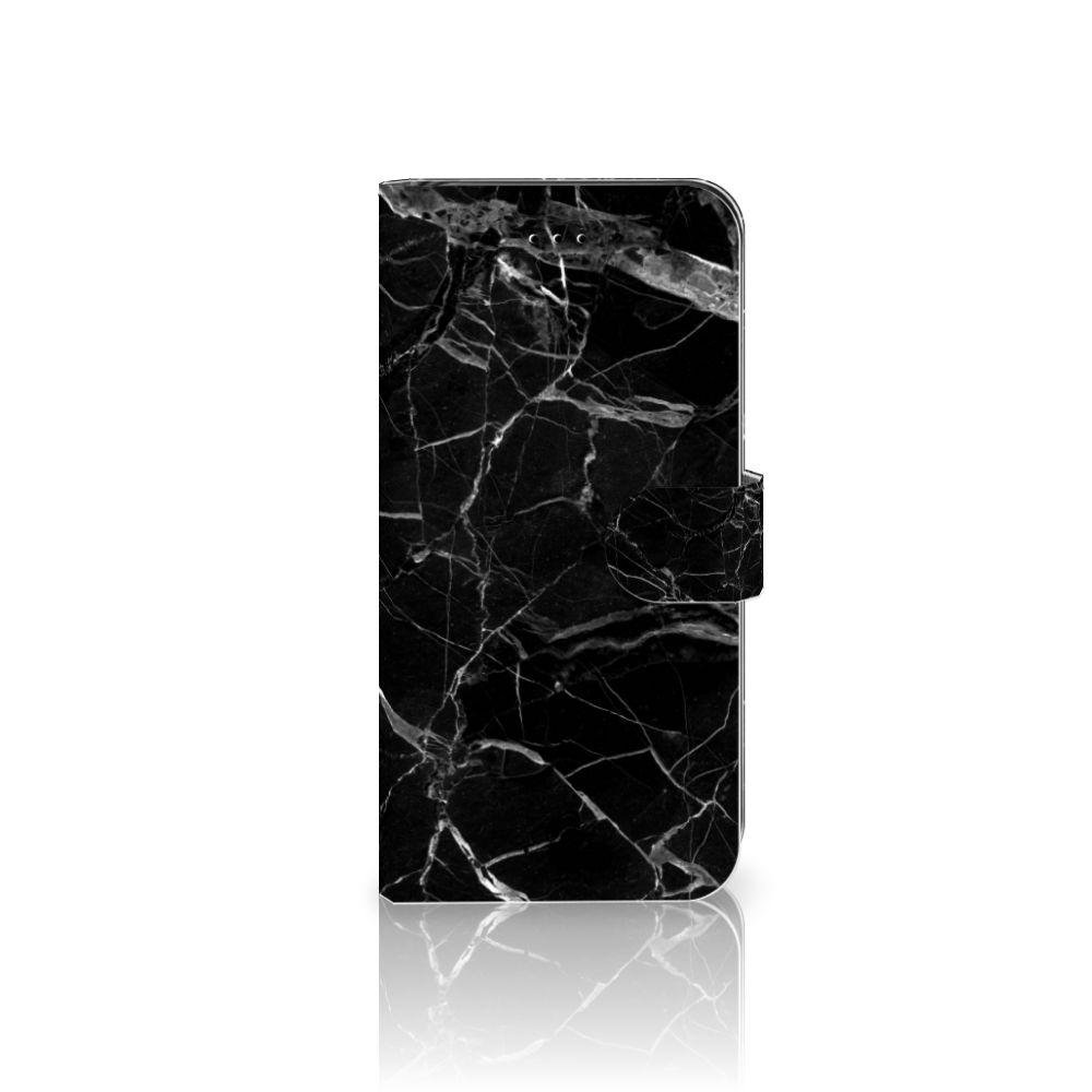 Apple iPhone 7 Plus | 8 Plus Uniek Boekhoesje Marmer Zwart
