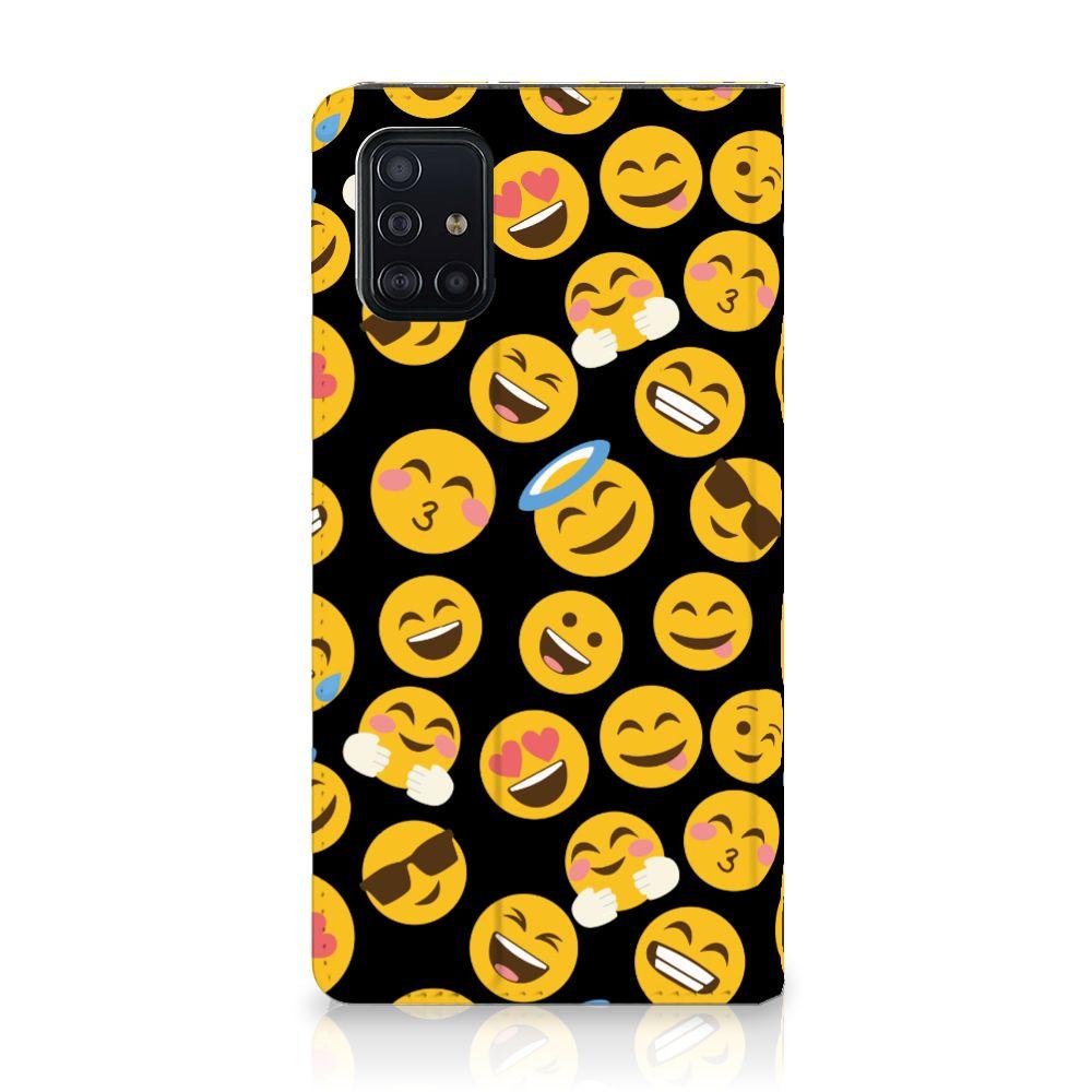 Samsung Galaxy A51 Hoesje met Magneet Emoji