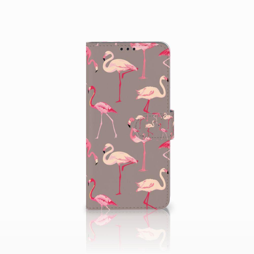 Huawei P Smart Plus Uniek Boekhoesje Flamingo