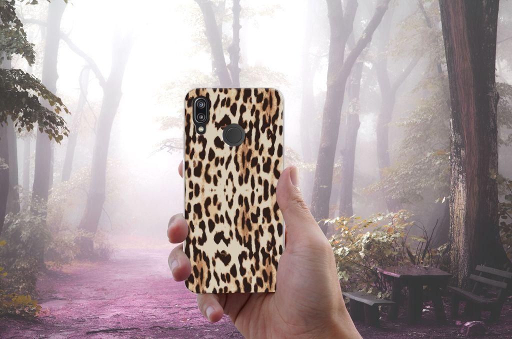 Huawei P20 Lite Uniek TPU Hoesje Leopard