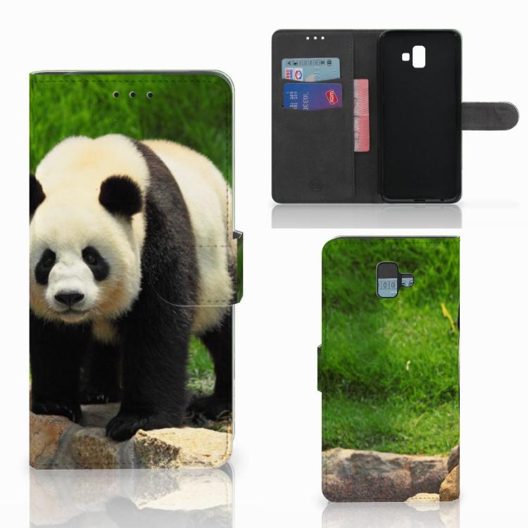 Samsung Galaxy J6 Plus (2018) Telefoonhoesje met Pasjes Panda