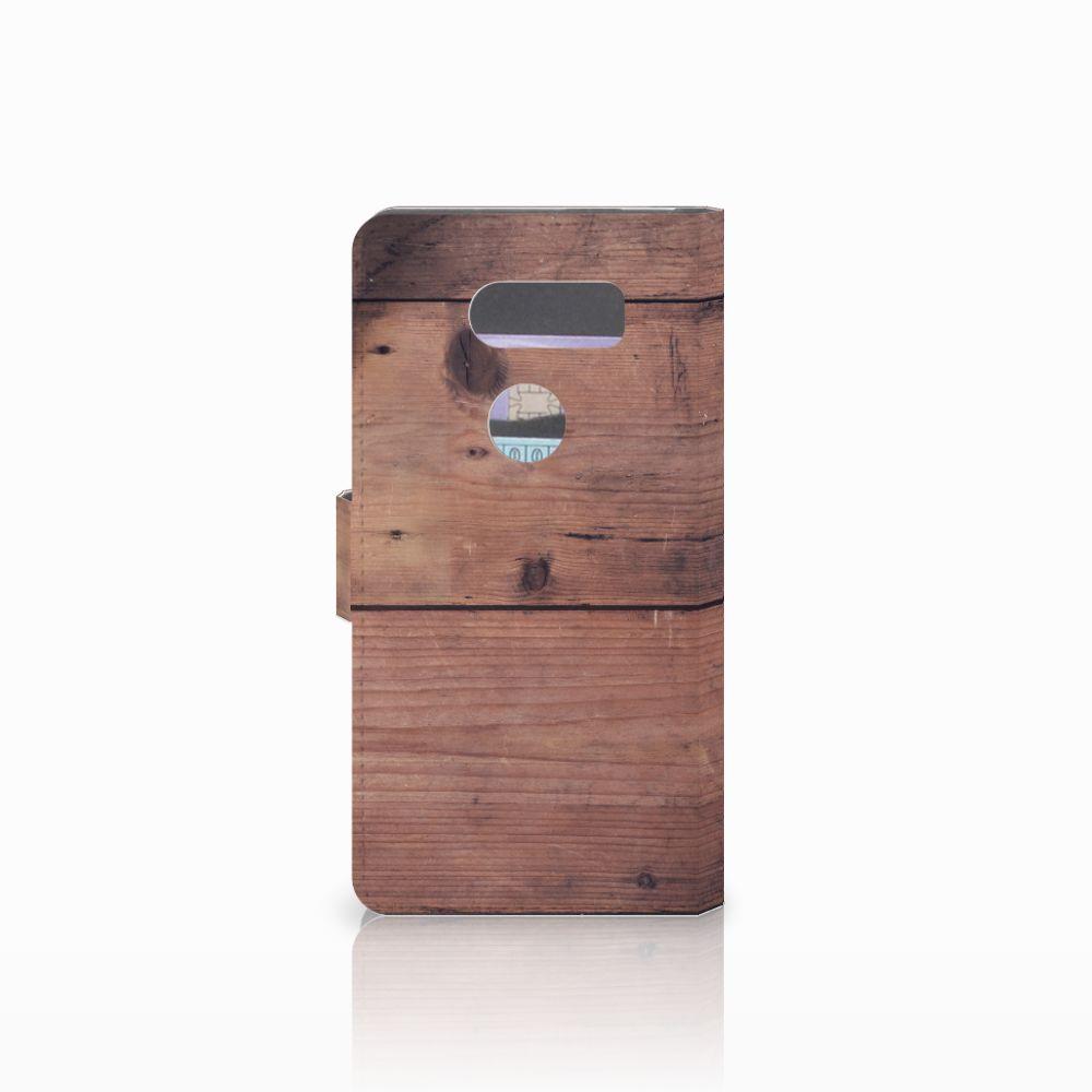 LG V30 Book Style Case Old Wood