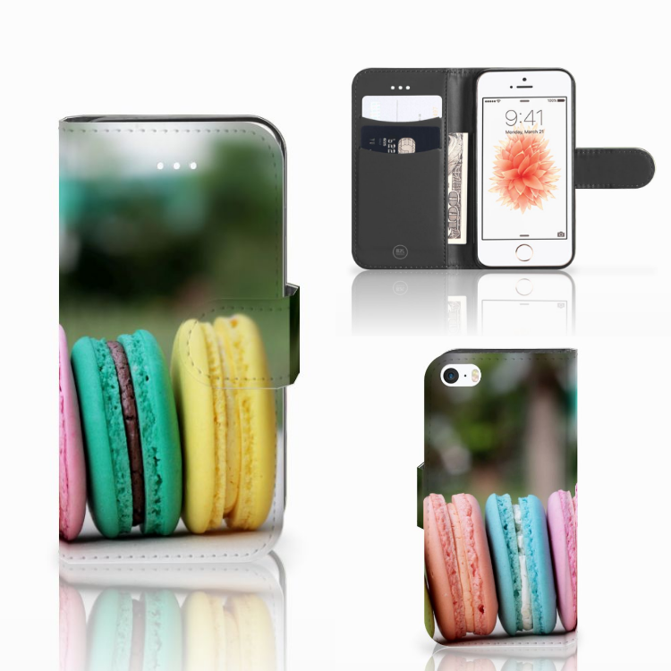 Apple iPhone 5 | 5s | SE Book Cover Macarons