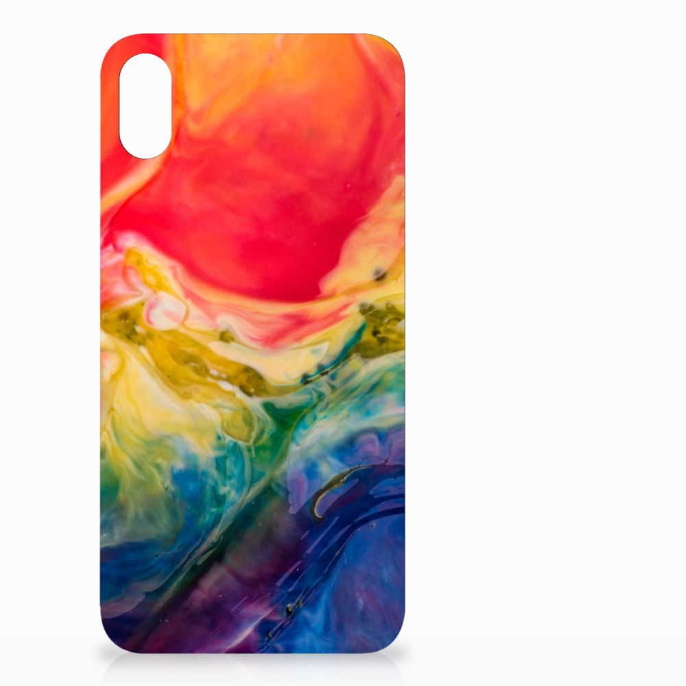 Apple iPhone Xs Max Uniek TPU Hoesje Watercolor Dark