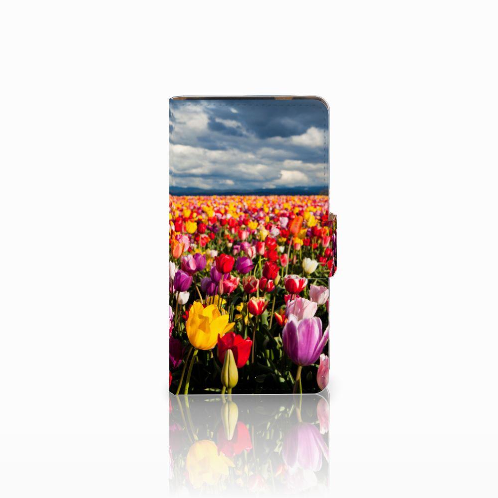 HTC Desire 601 Uniek Boekhoesje Tulpen
