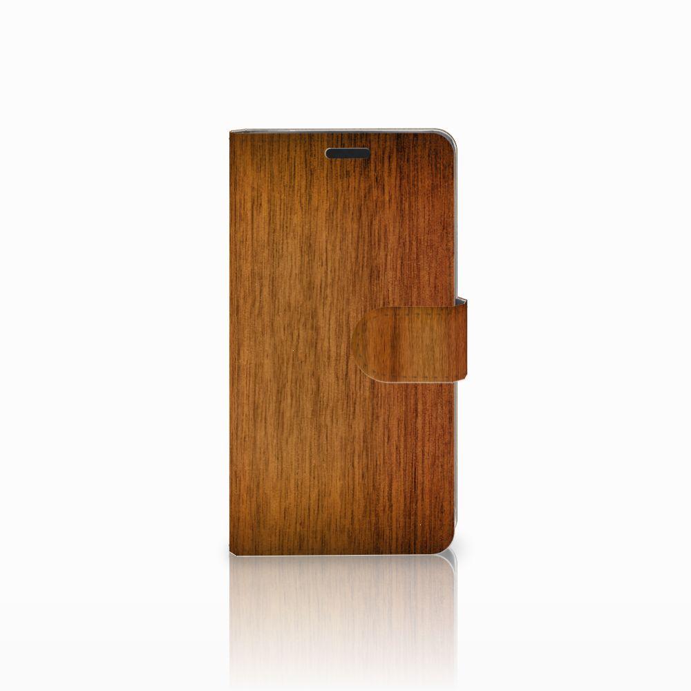 LG G3 Uniek Boekhoesje Donker Hout