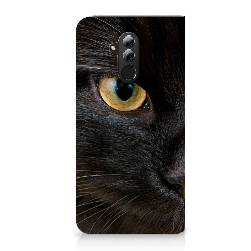 Huawei Mate 20 Lite Uniek Standcase Hoesje Zwarte Kat