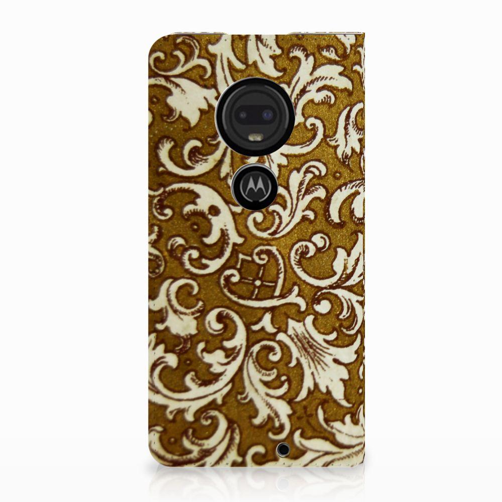 Motorola Moto G7 | G7 Plus Standcase Hoesje Design Barok Goud