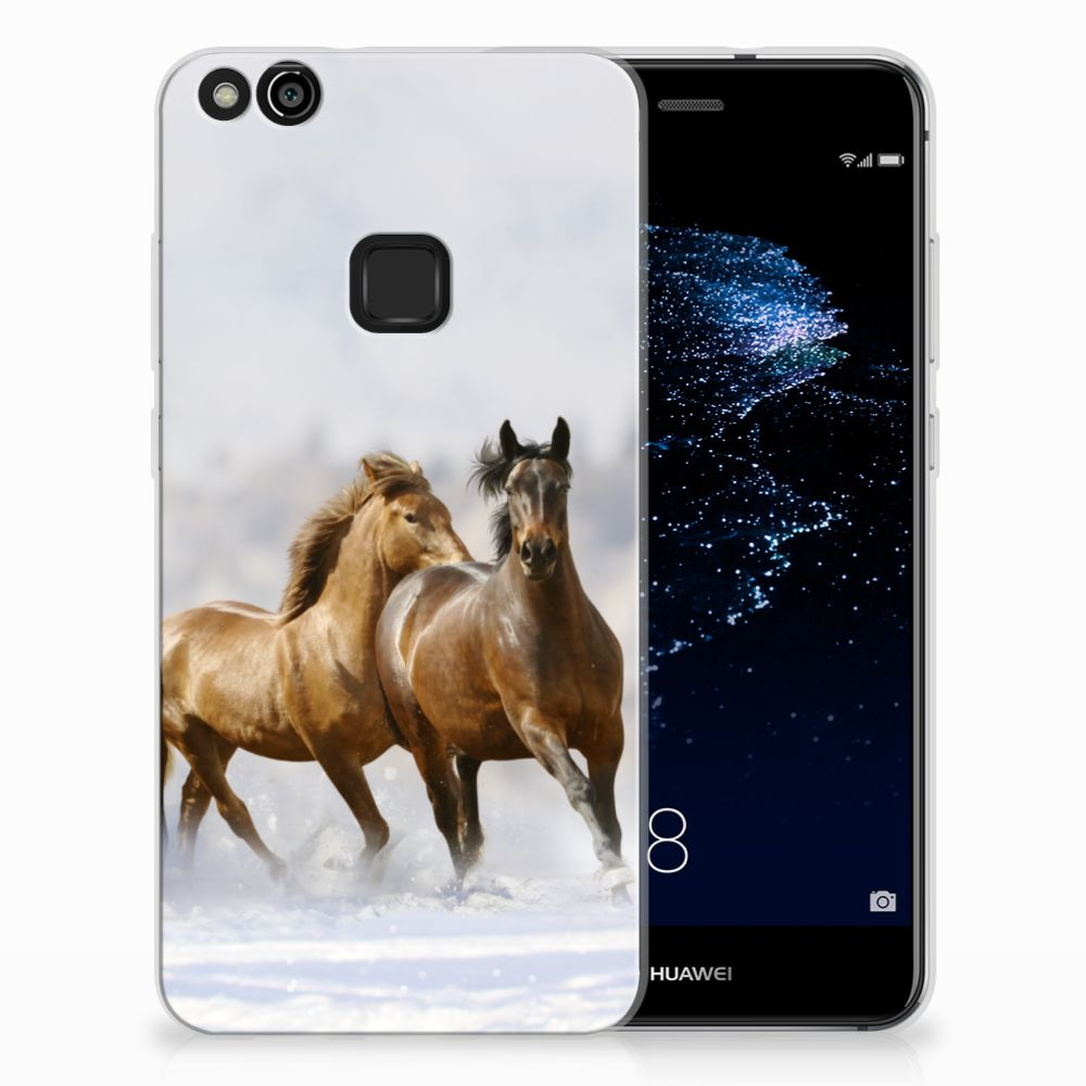 Huawei P10 Lite Uniek TPU Hoesje Paarden