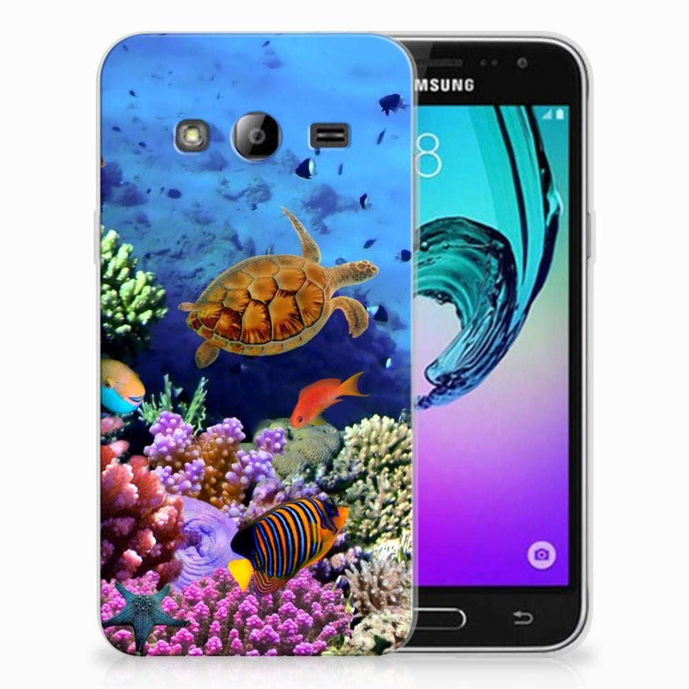 Samsung Galaxy J3 2016 TPU Hoesje Vissen