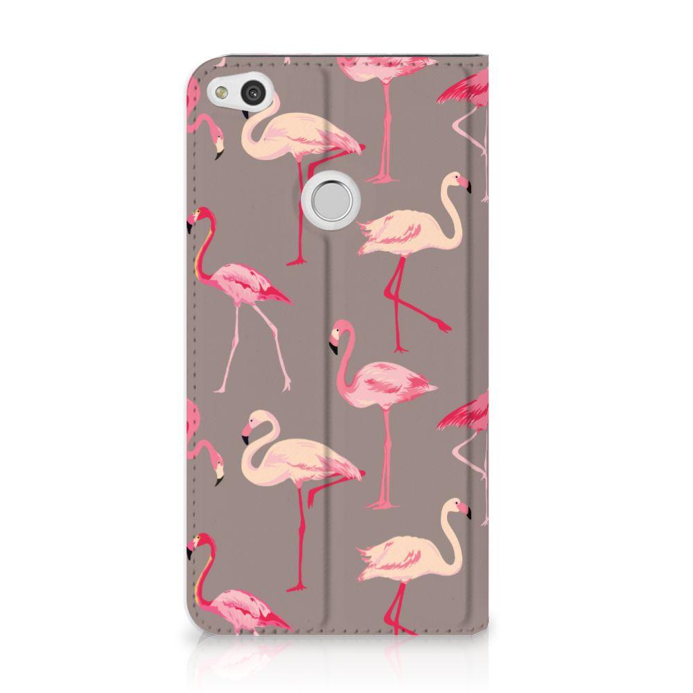 Huawei P8 Lite 2017 Uniek Standcase Hoesje Flamingo