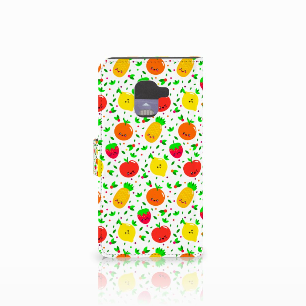 Samsung Galaxy A8 2018 Book Cover Fruits