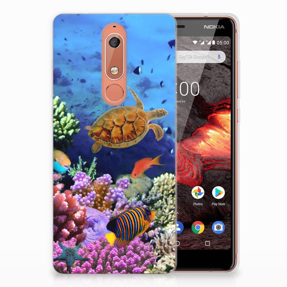 Nokia 5.1 (2018) TPU Hoesje Vissen