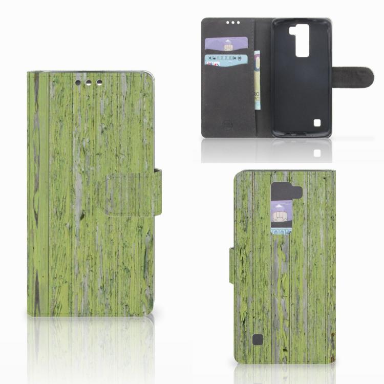 LG K8 Boekhoesje Design Green Wood