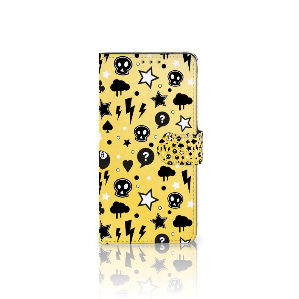 Samsung Galaxy A8 Plus (2018) Uniek Boekhoesje Punk Yellow