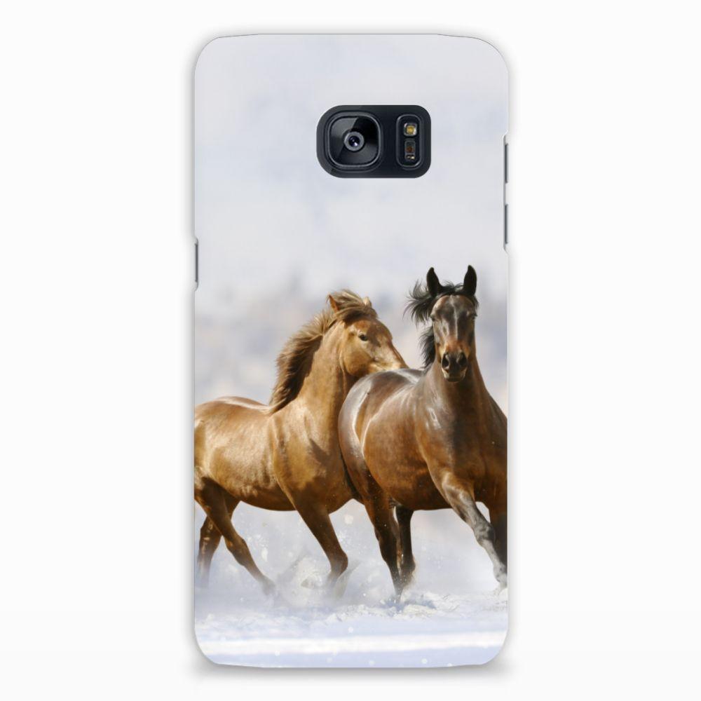 Samsung Galaxy S7 Edge Uniek Hardcase Hoesje Paarden