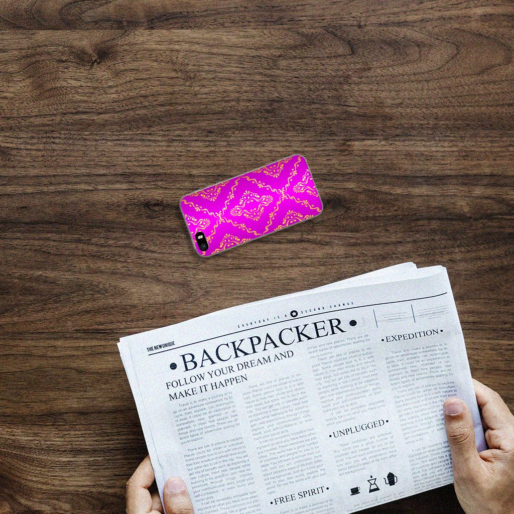 Siliconen Hoesje Apple iPhone SE | 5S Barok Roze