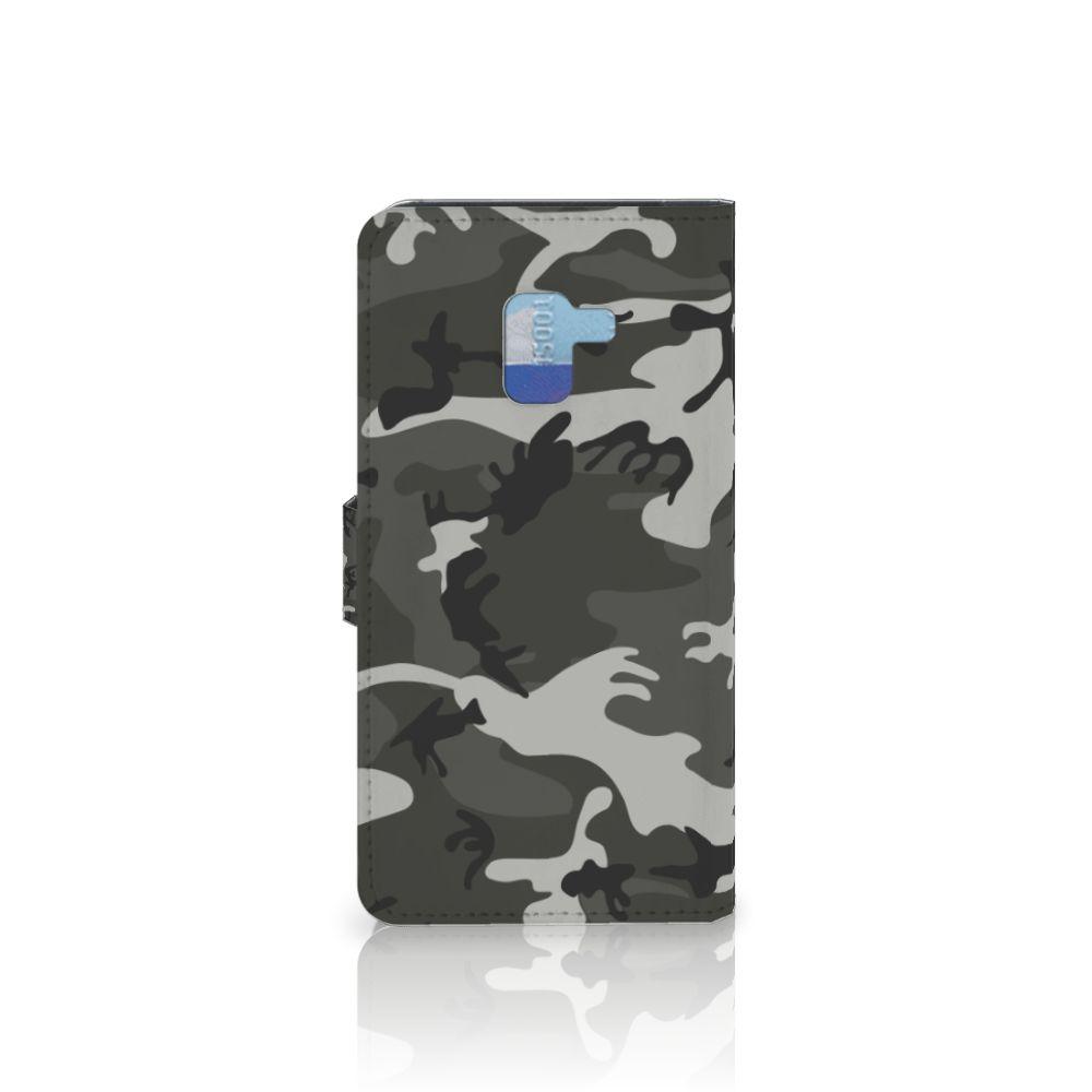 Samsung Galaxy A8 Plus (2018) Telefoon Hoesje Army Light