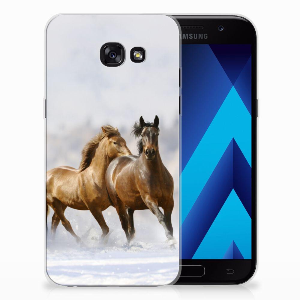 Samsung Galaxy A5 2017 Uniek TPU Hoesje Paarden