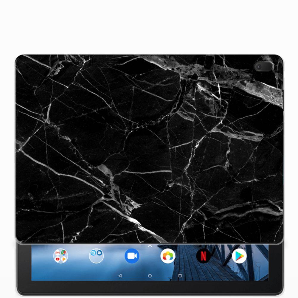 Lenovo Tab E10 Tablet Back Cover Marmer Zwart