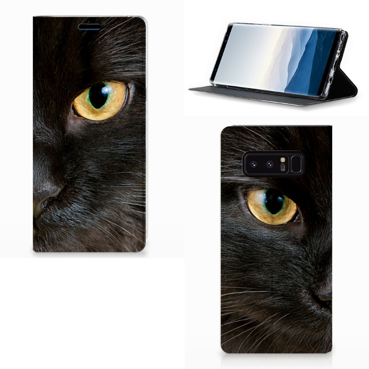 Samsung Galaxy Note 8 Hoesje maken Zwarte Kat