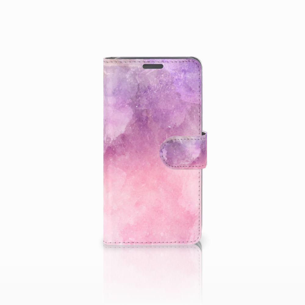Wiko Lenny Boekhoesje Design Pink Purple Paint