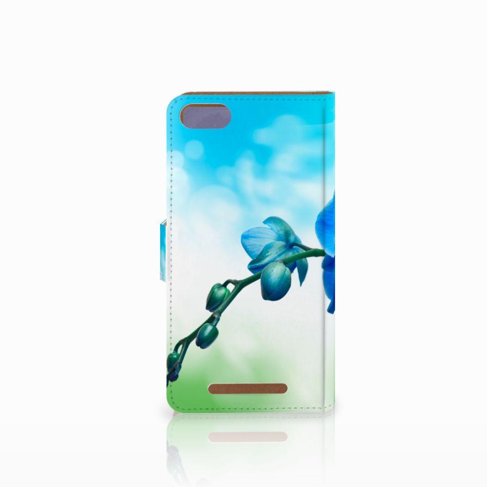 Wiko Lenny 3 Hoesje Orchidee Blauw
