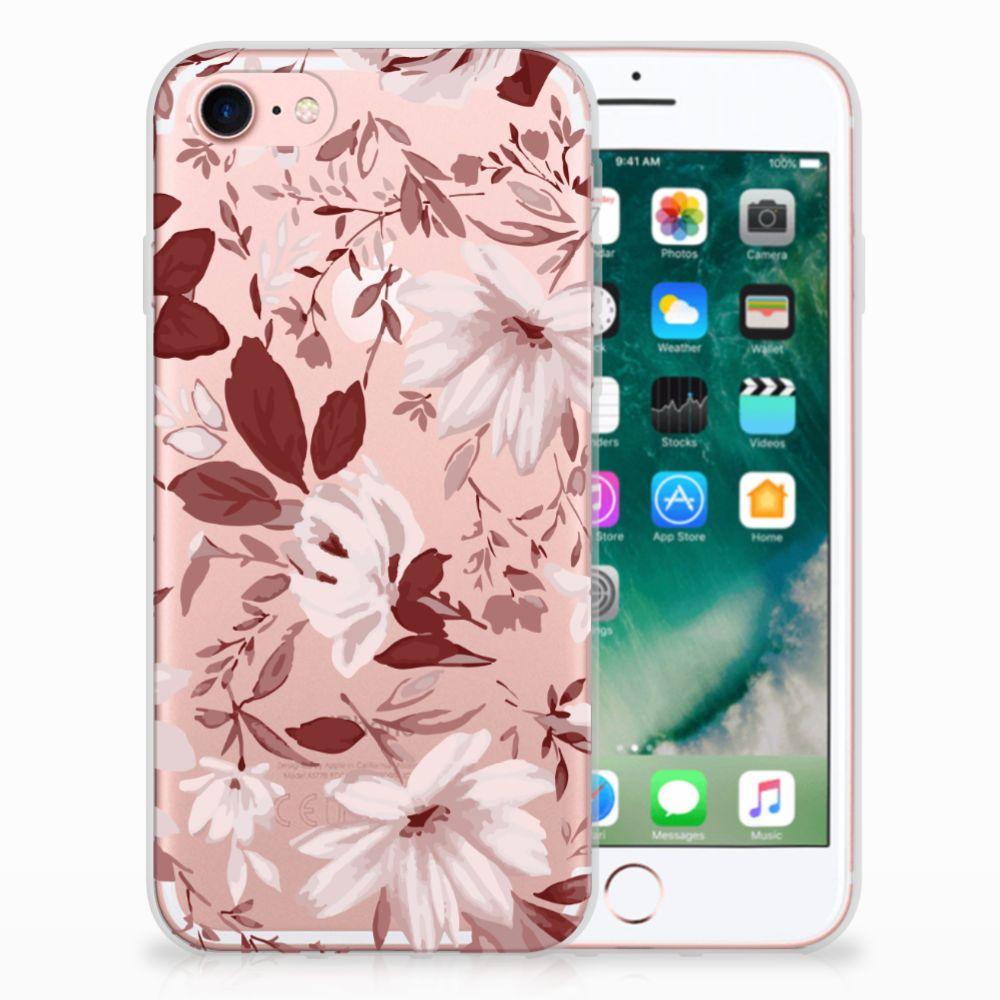Apple iPhone 7 | 8 Uniek TPU Hoesje Watercolor Flowers
