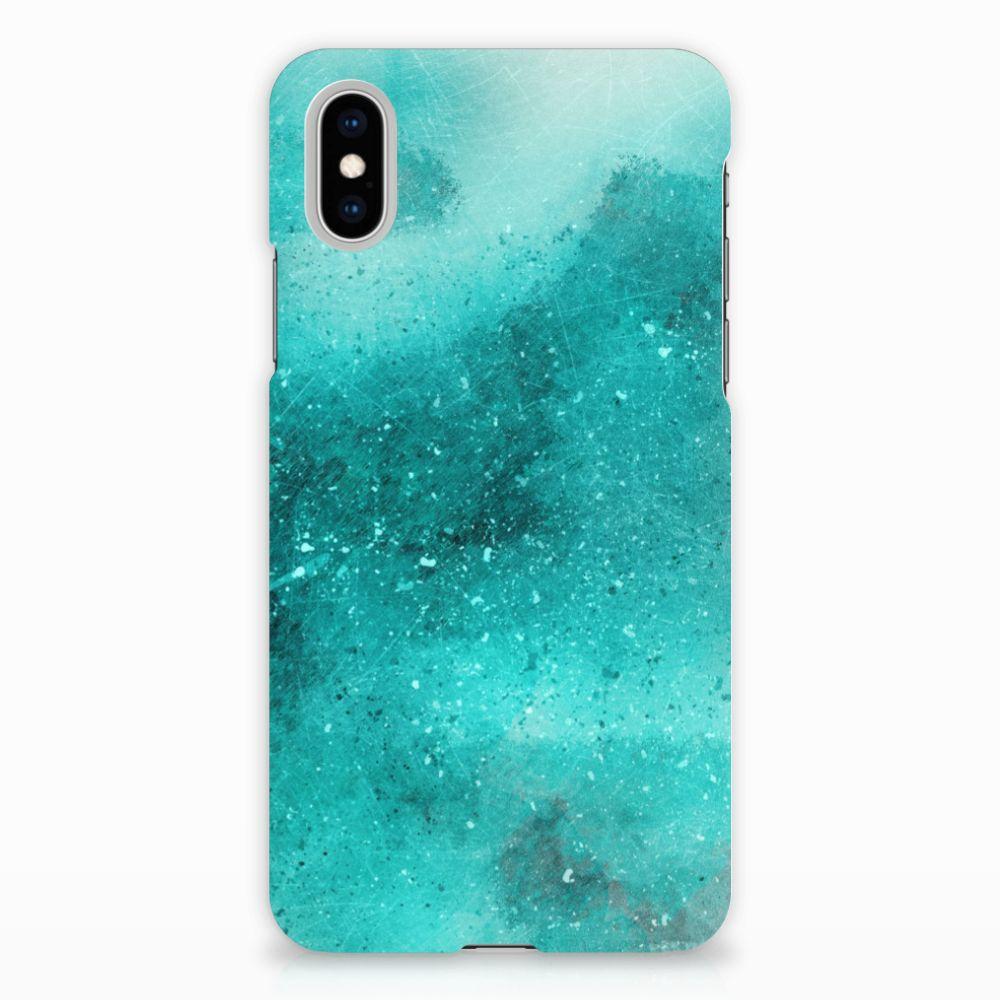 Apple iPhone X | Xs Uniek Hardcase Hoesje Painting Blue