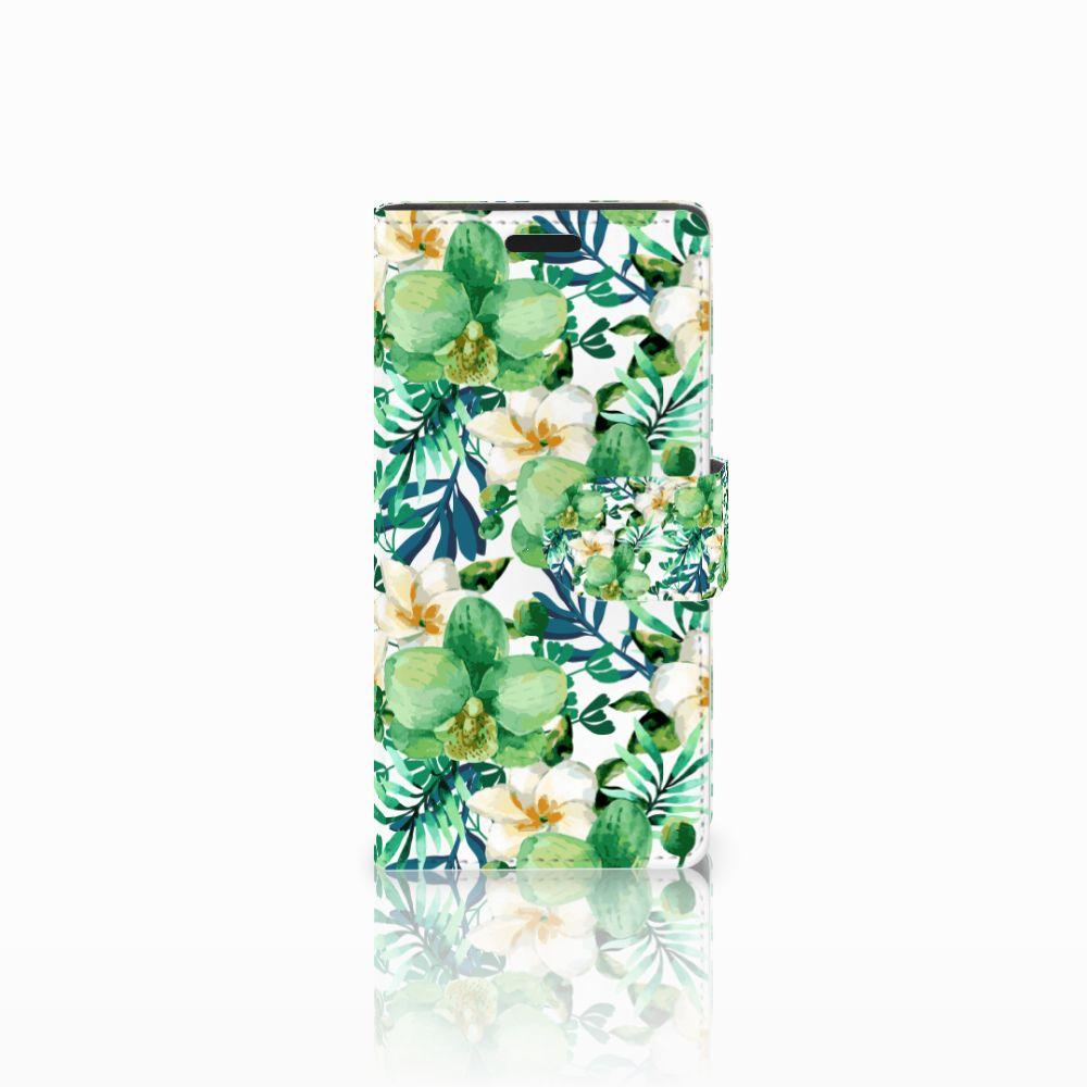 LG Leon 4G Uniek Boekhoesje Orchidee Groen