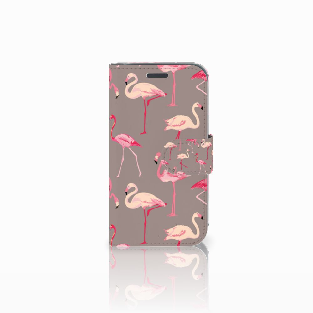 Samsung Galaxy J1 2016 Uniek Boekhoesje Flamingo