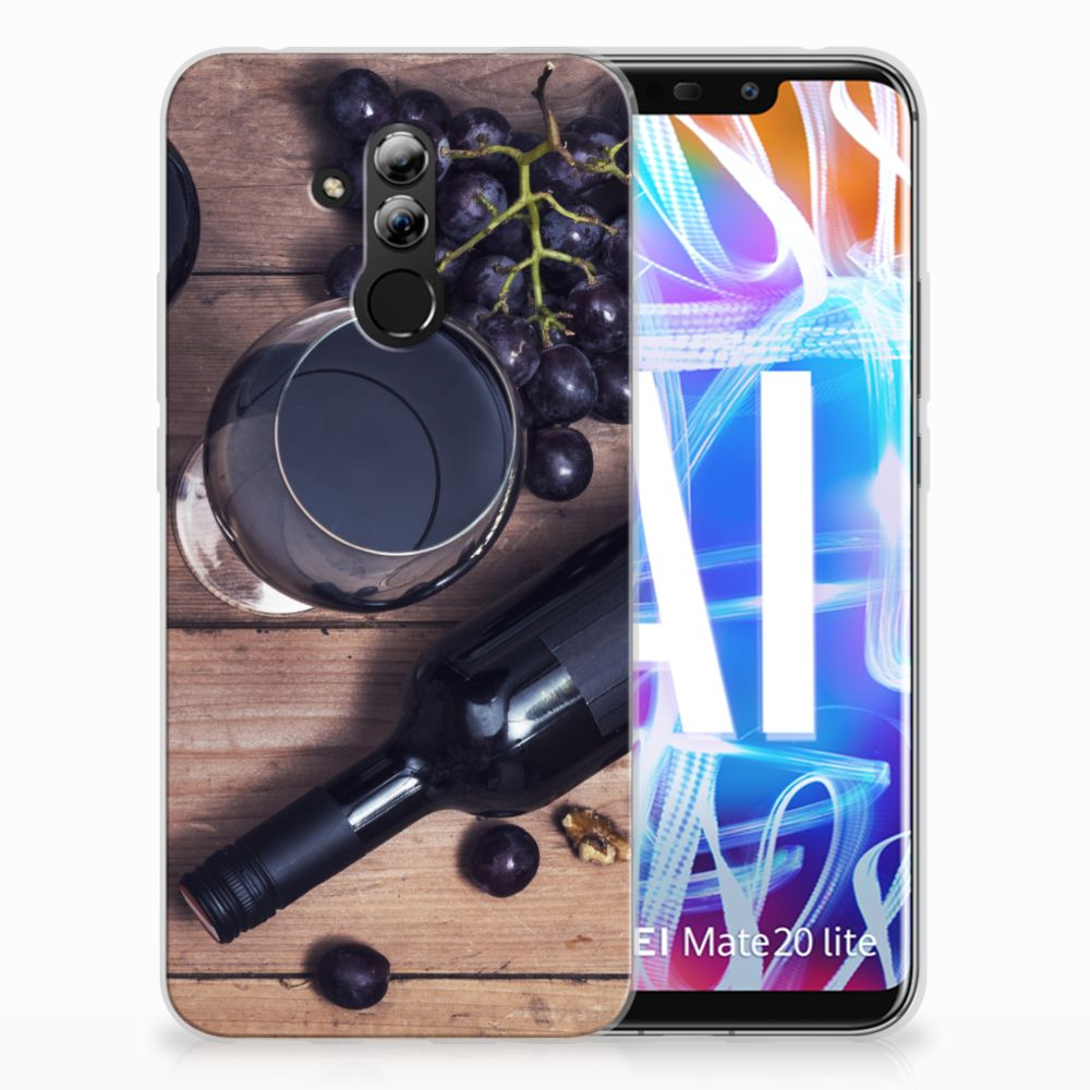 Huawei Mate 20 Lite Siliconen Case Wijn