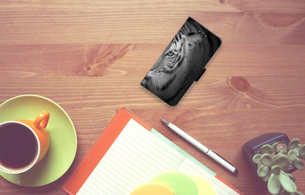 Samsung Galaxy S6 | S6 Duos Telefoonhoesje met Pasjes Tijger