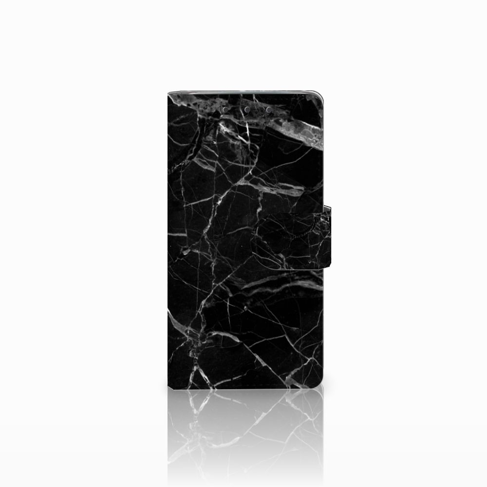 HTC One M7 Uniek Boekhoesje Marmer Zwart