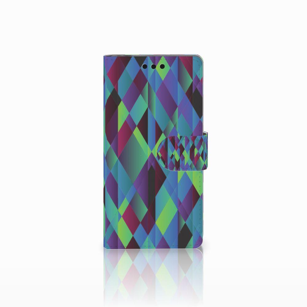 Sony Xperia M4 Aqua Bookcase Abstract Green Blue