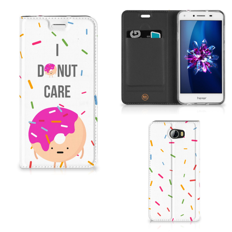 Huawei Y5 2   Y6 Compact Flip Style Cover Donut Roze