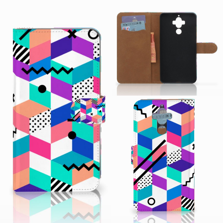 Huawei Mate 9 Bookcase Blokken Kleurrijk