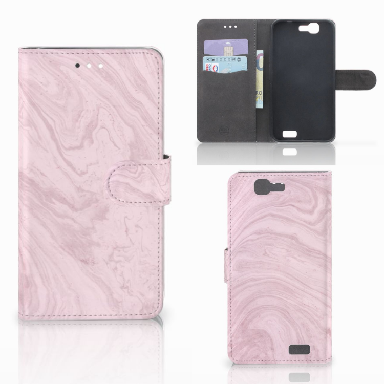 Huawei Ascend G7 Bookcase Marble Pink