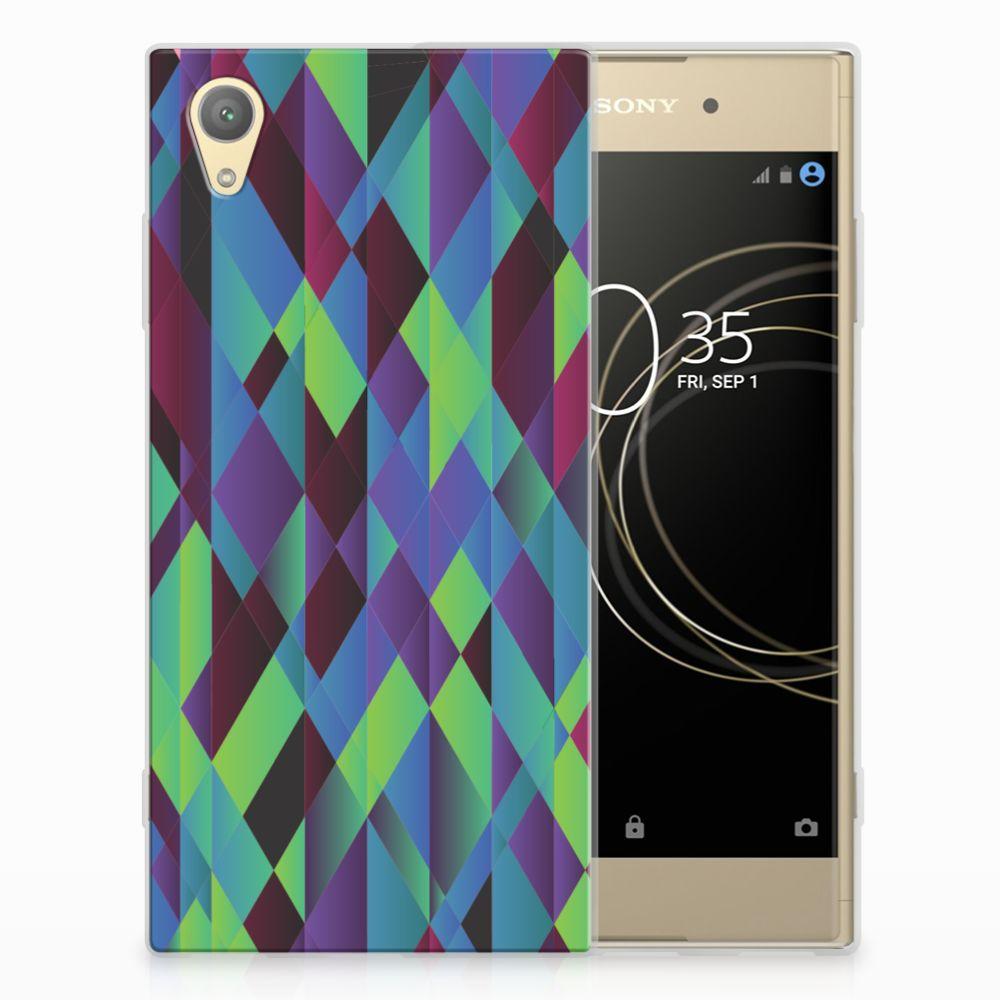 Sony Xperia XA1 Plus TPU Hoesje Abstract Green Blue
