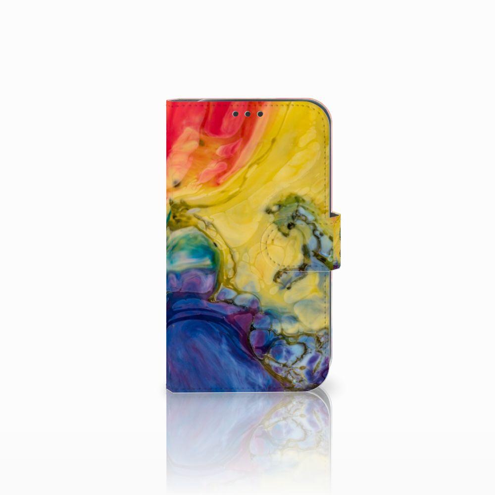 Samsung Galaxy Xcover 4 Uniek Boekhoesje Watercolor Dark