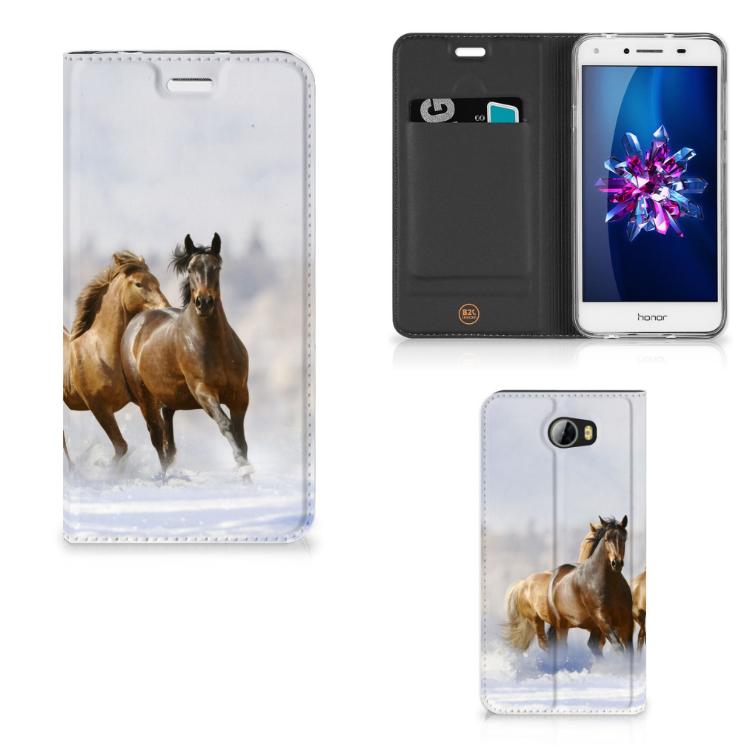 Huawei Y5 2   Y6 Compact Hoesje maken Paarden