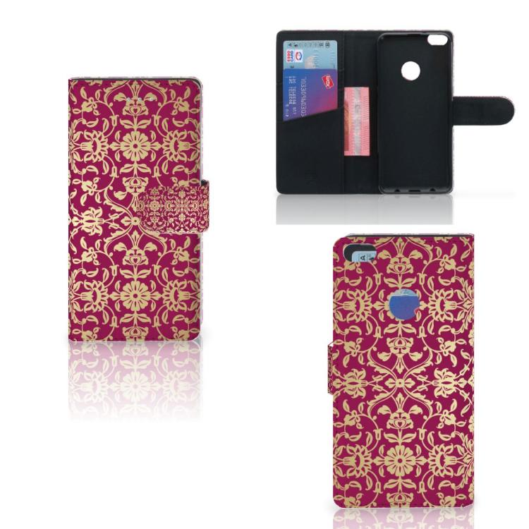 Wallet Case Huawei P8 Lite 2017 Barok Pink