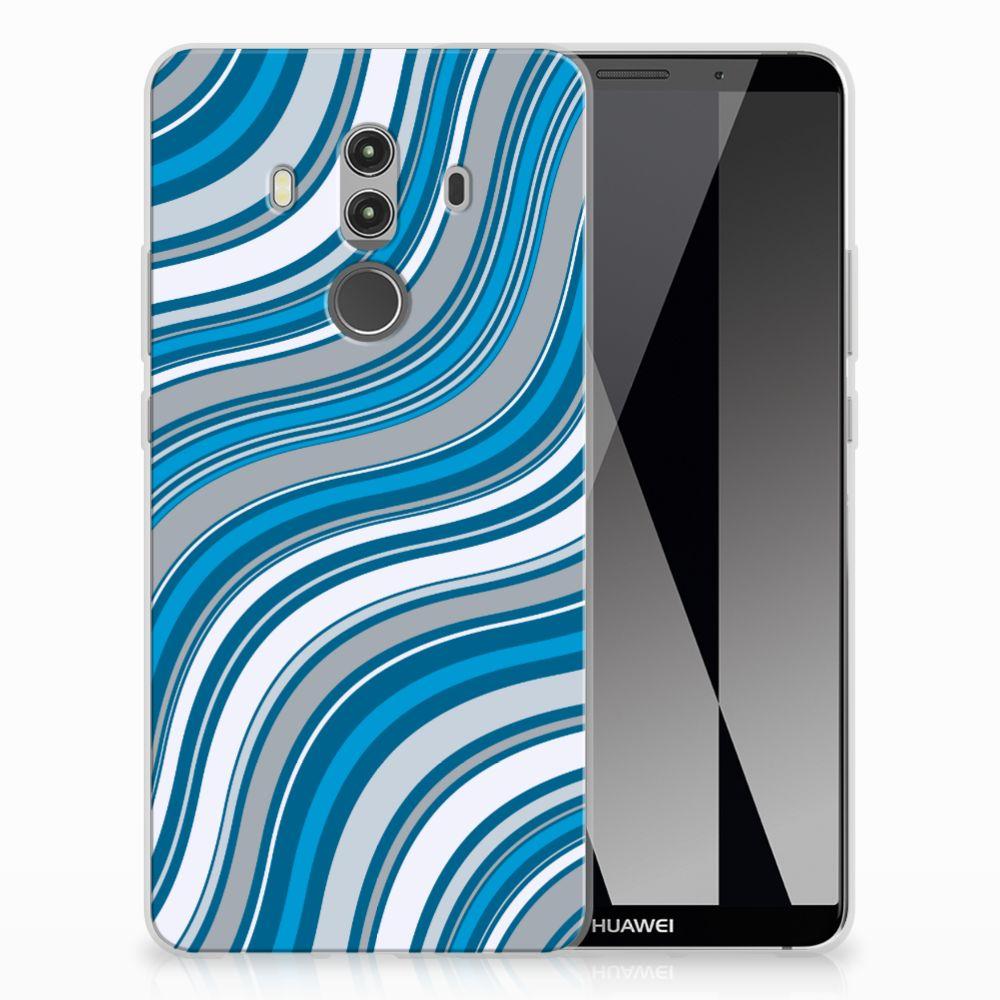 Huawei Mate 10 Pro TPU Hoesje Design Waves Blue