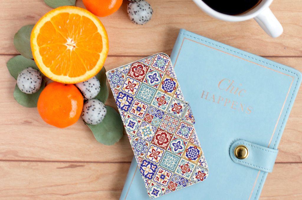 Samsung Galaxy A50 Bookcase Tiles Color