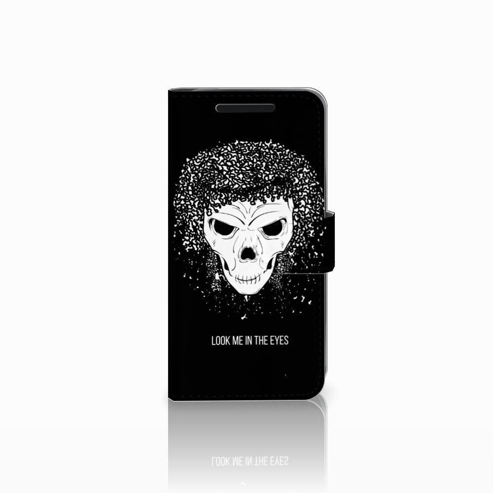 Telefoonhoesje met Naam HTC One M9 Skull Hair