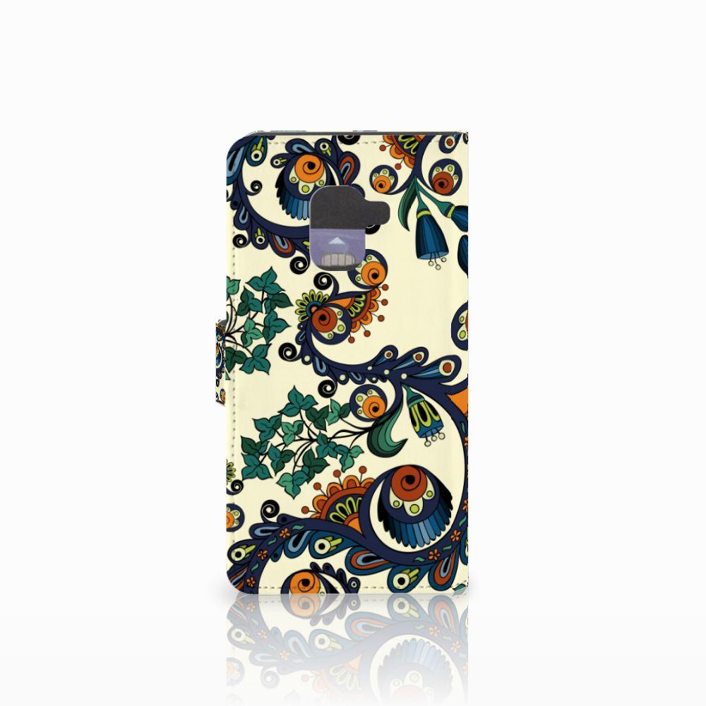 Wallet Case Samsung Galaxy A8 2018 Barok Flower