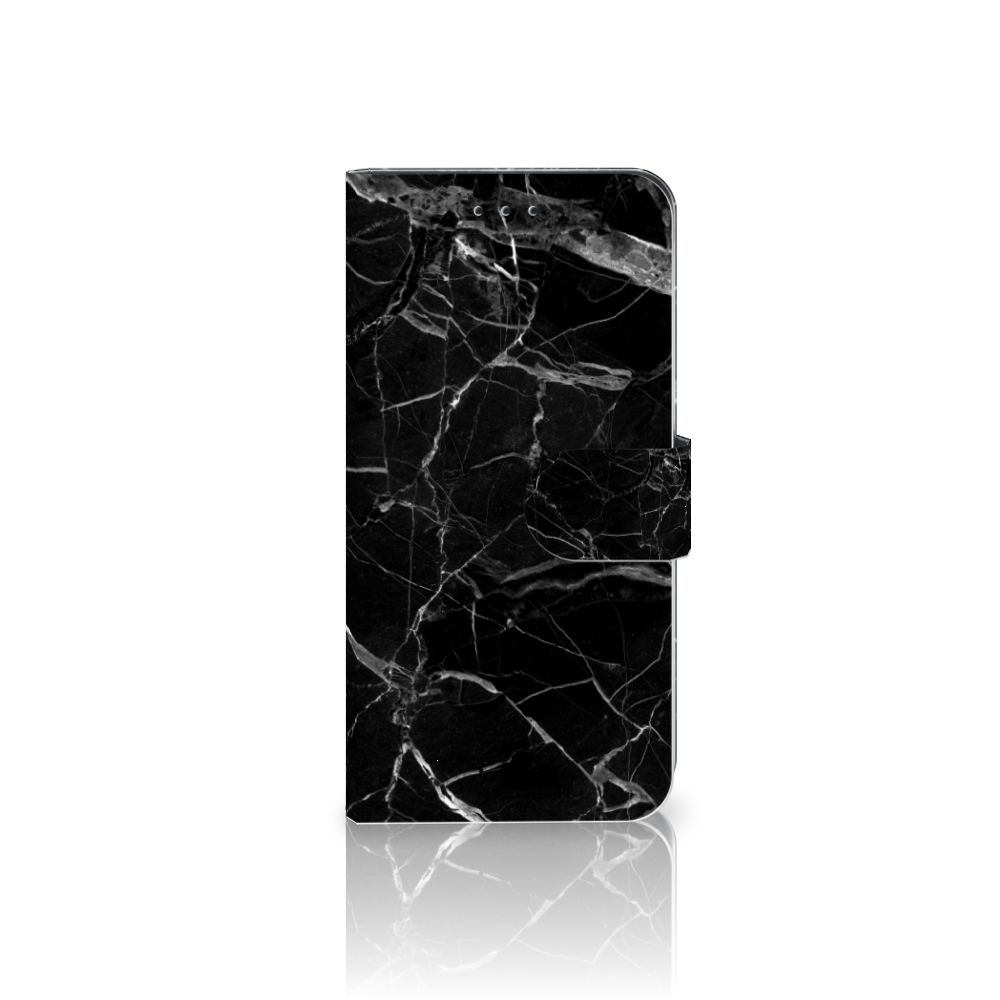 Nokia 7.1 Uniek Boekhoesje Marmer Zwart
