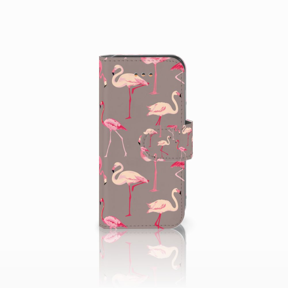 Apple iPhone 5C Uniek Boekhoesje Flamingo