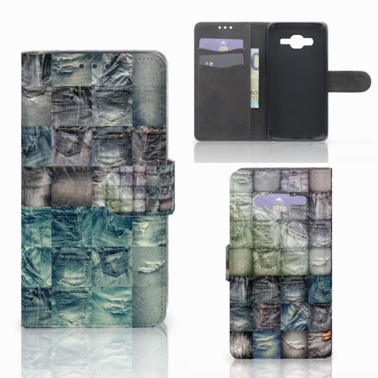 Wallet Case met Pasjes Samsung Galaxy J5 (2015) Spijkerbroeken